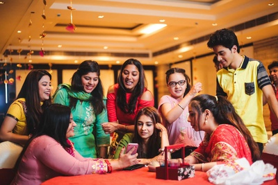 haldi ceremony fun moments of the bride with her bridesmaids
