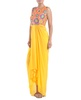 Yellow embroidered dhoti suit image
