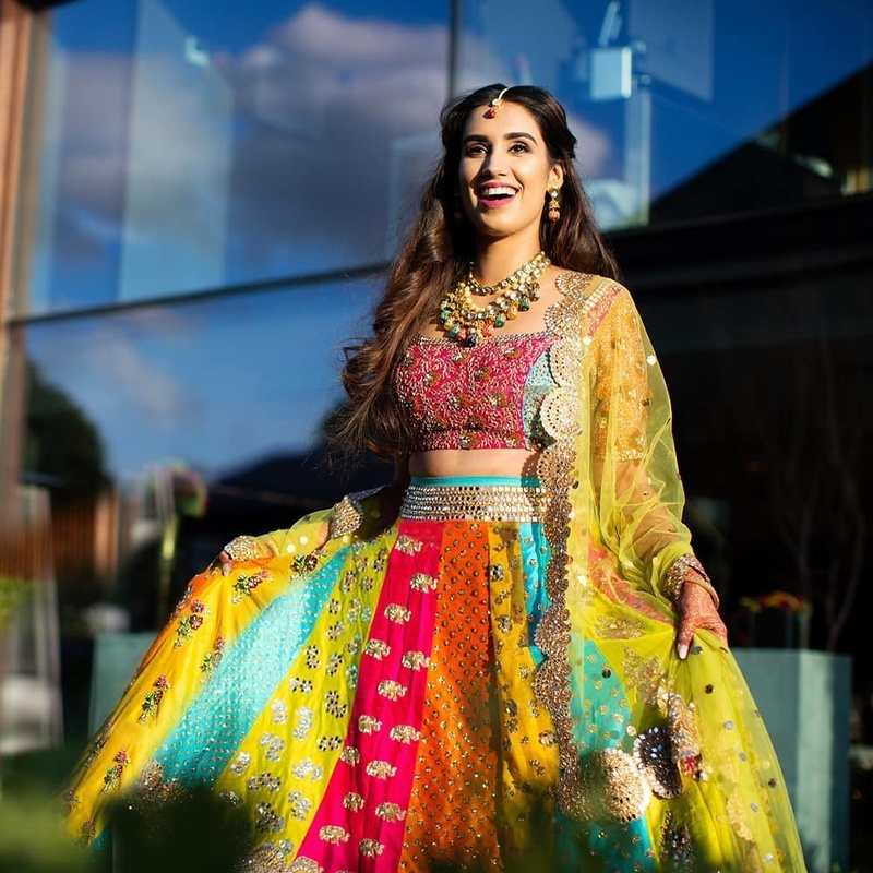 ad4a7344a3c7bc Multicolour bridal lehenga design that's a raging trend in 2018