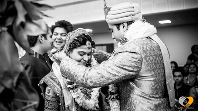 Wedding photography in a monochrome filter by Camera Crew