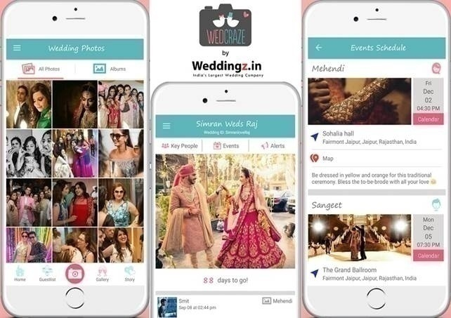 4.Use of technology: using wedding planning apps, using personal hashtags, etc.