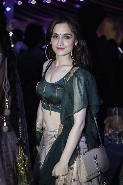 Sanjeeda Shaikh was seen at the Sangeet.