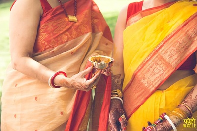 Haldi ceremony held at The Grand, Vasant kunj, Delhi.