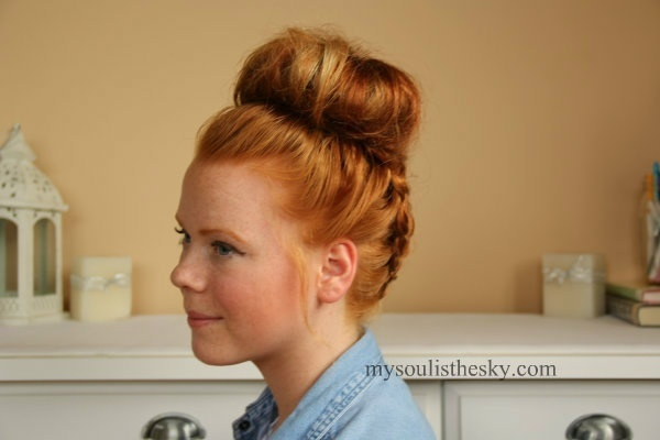 Double French-Braided Top-Knot