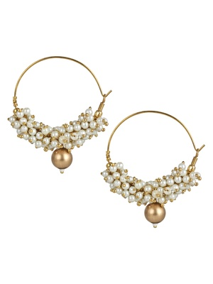 Imli Street Pearl Bali With Gold Bead