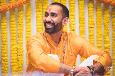 Haldi ceremony for the groom to be