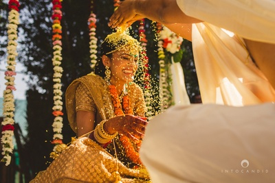 In Action shot captured beautifully by Ketan & Manasvi at Into Candid Photography