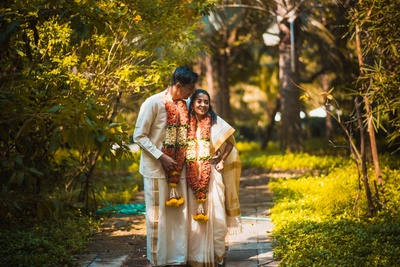Candid shots of the traditional bride and groom post wedding function at Aashyana Lakhanpal, Goa