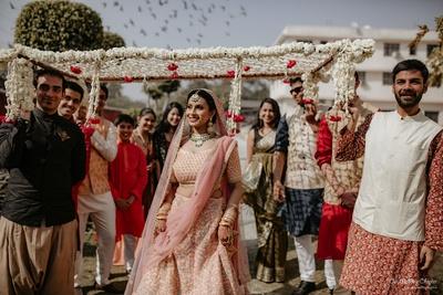Prachi enters under a beautiful phoolon ki chaadar