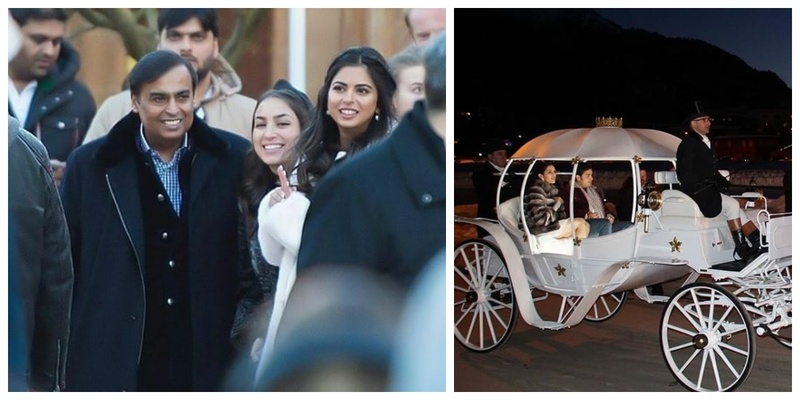 First Photos of Akash Ambani and Shloka Mehta's star-studded pre-wedding festivities from St Moritz, Switzerland are out!
