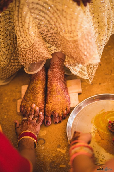 haldi ceremony for the bride