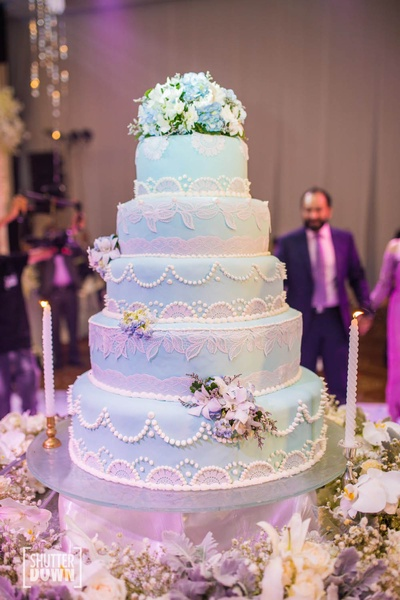 The magnificent reception cake