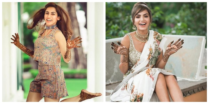 7 Brides Posing with Mehendi and Looking Their Happiest!