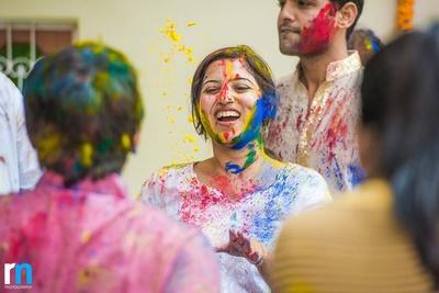 Celebrating Holi with a splash of vibrant colors