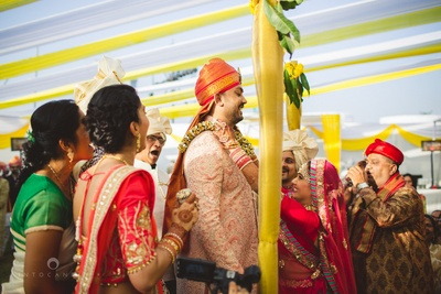 Varmala ceremony and all the happy moments that are followed!