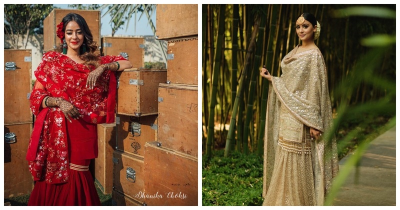 5 Brides who Nailed it in a Sharara!