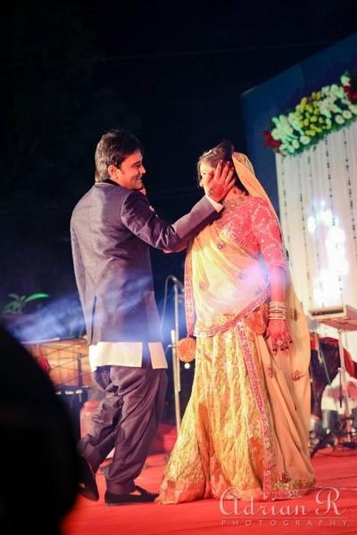 Couple's dance performance