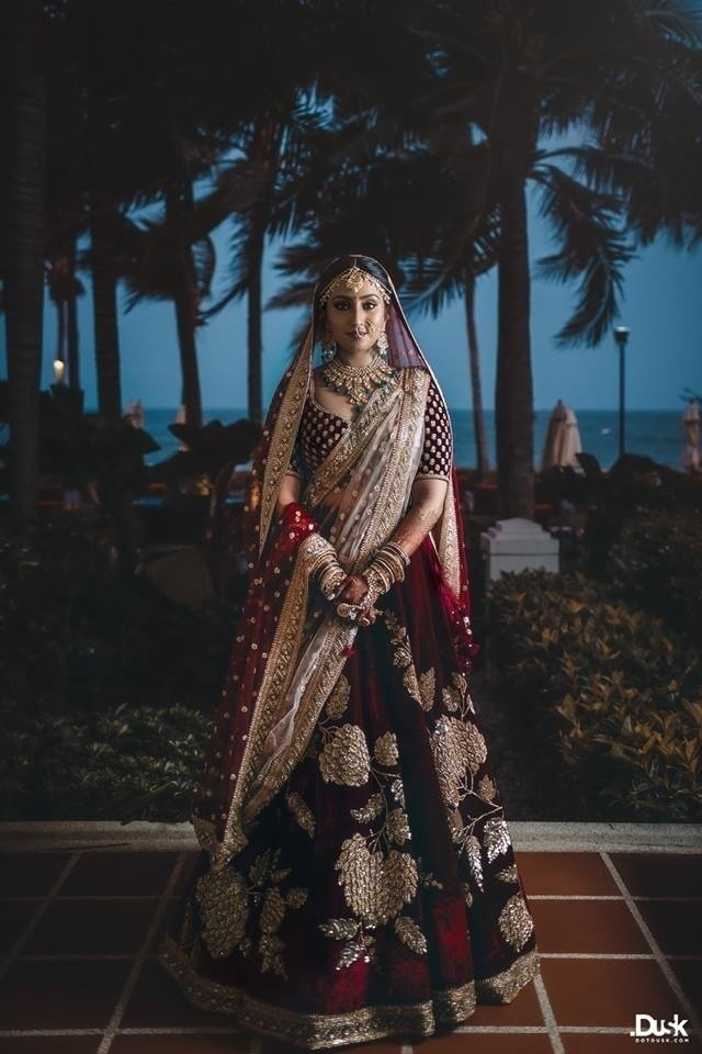 4d0cd2e707 Wedding Lehenga Colours to opt for your Night Wedding! - Blog