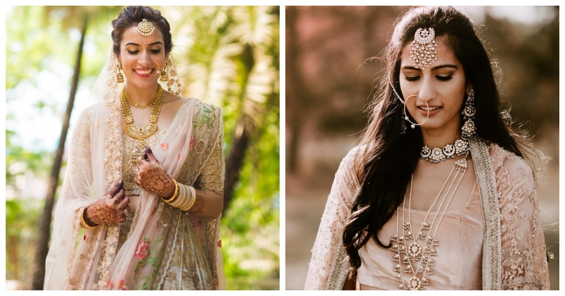 10 Brides who Matched their Pastel Lehengas with Stunning Jewellery