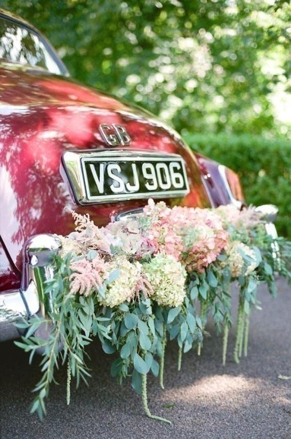 Unique Rear Wedding Car Decoration Ideas