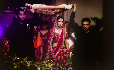 Bridal entrance captured beautifully by Gautam Khullar Photography.