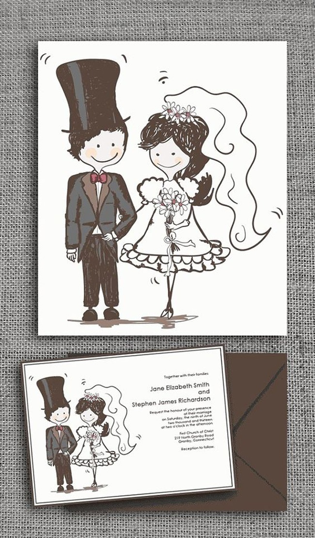 Caricature Wedding Invites