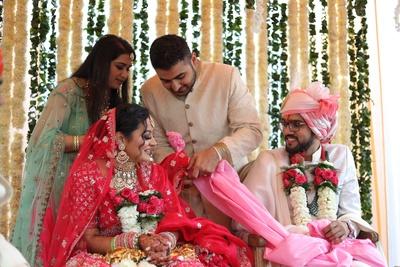 The holy ritual of gath bandhan