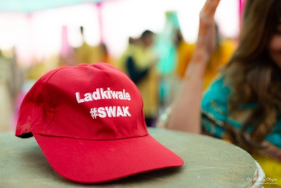 The couple had arranged for fun merchandises with their wedding hashtag #SWAK.
