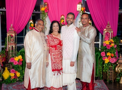 Martin with his pillars of strength, his parents and his elder brother