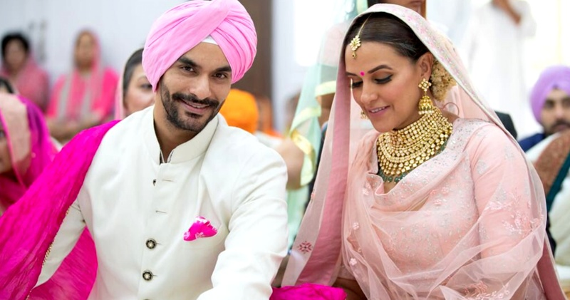 Neha Dhupia got married to Angad Bedi in a secretive wedding ceremony and she looked as elegant as possible!