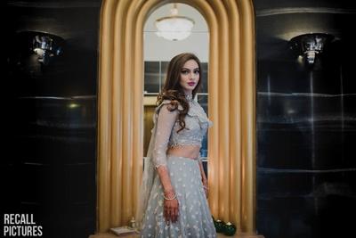 Bride in a stunning Tarun Tahiliani lehenga for her sangeet
