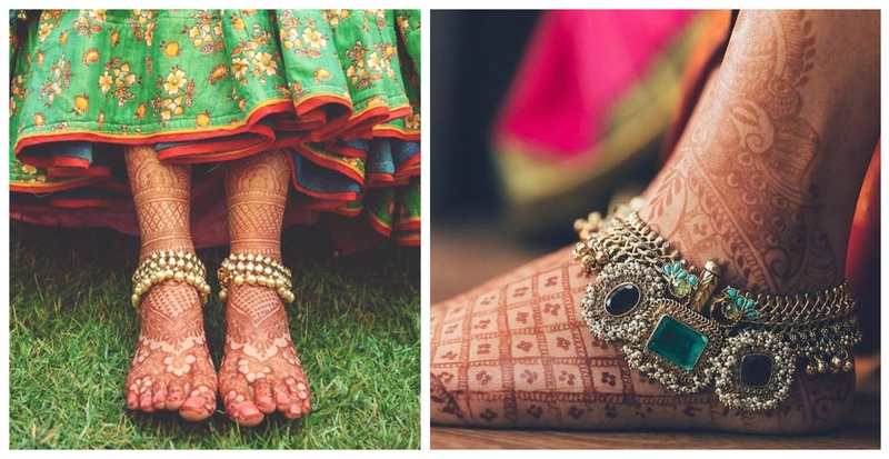 15+ Gorgeous Paayal Designs for the bride's feet!