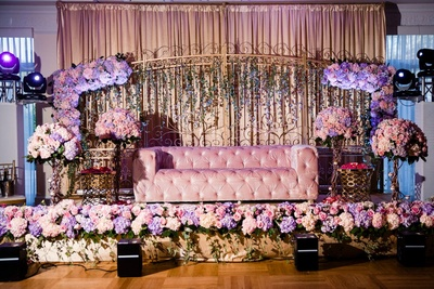 pastel decor for the reception ceremony