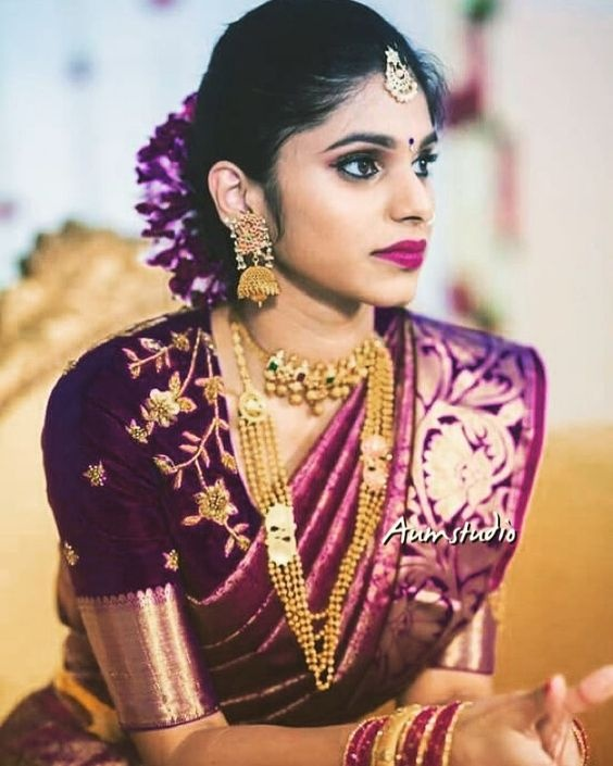 4105efff8f3445 20 silk saree blouse designs to wear with your favourite Kanjivaram ...