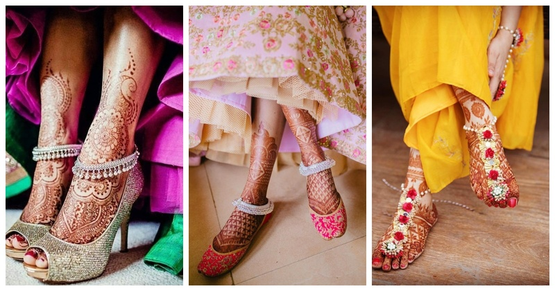 The prettiest paayals we spotted on real brides that you can wear with your lehenga!