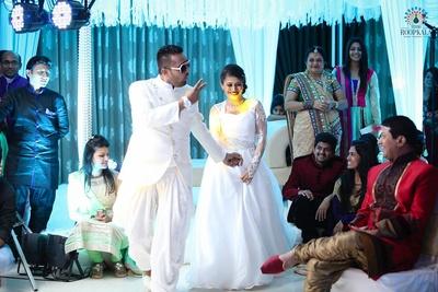 White themed sangeet ceremony