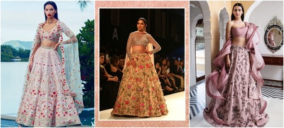 9 Floral Lehengas to Bookmark For Your Fall Wedding!