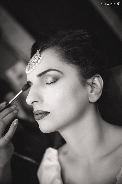 Black and white makeup photography.