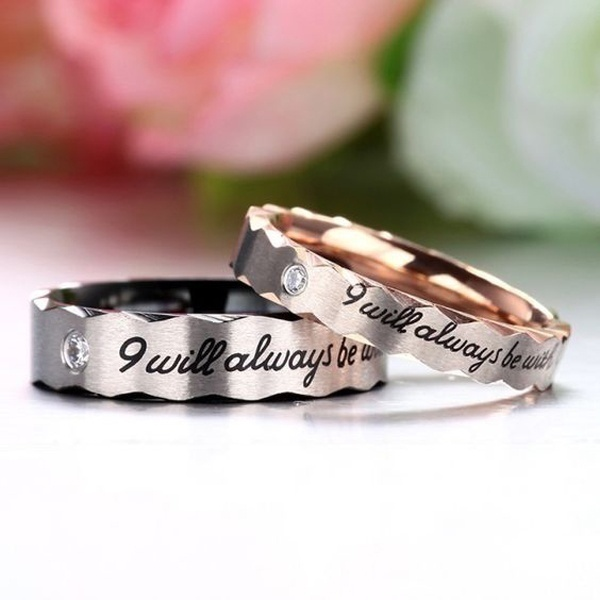 Carefully Crafted Phrases on Wedding Bands