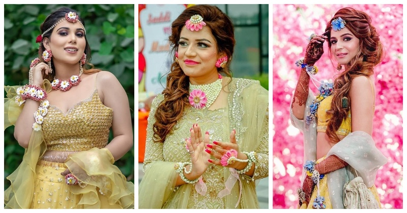 7 Brides who Proved Floral Jewellery is Super Stylish