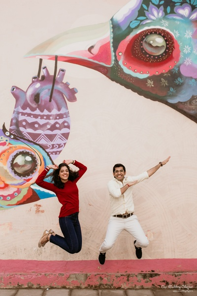 Saakshi and Anant jumping together a loving forever
