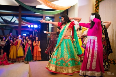 Carrying that lehenga with so much swag and style!