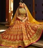 Variation Orange Art Silk Bridal Lehenga Choli image