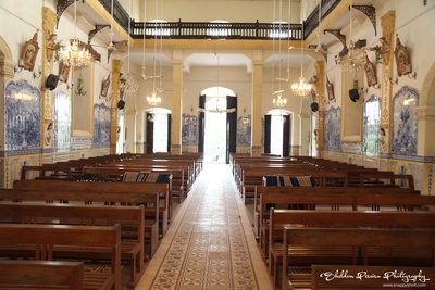 Interiors of the tranquil Our Lady of Hope Church in Goa