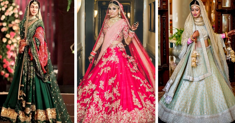 48f5894b74254e Lehenga colour combinations that are going to rule 2018 Indian Weddings!