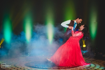Niharika and Punit taking centre stage during the Sangeet ceremony.