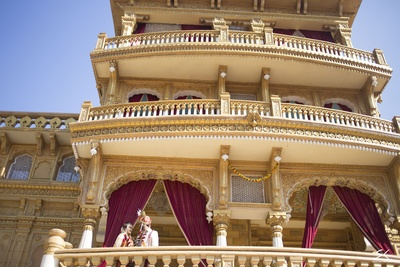 The magnificent Ayush Palace where this beautiful couple tied the knot