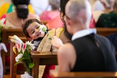 Cute kid at the wedding!