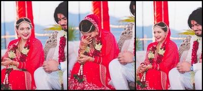 Candid wedding couple shot by Mahima Bhatia photography.