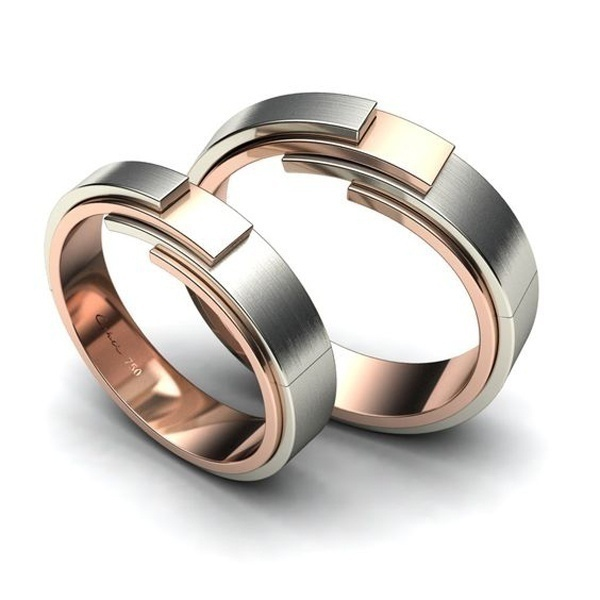 Dual Toned Wedding Bands